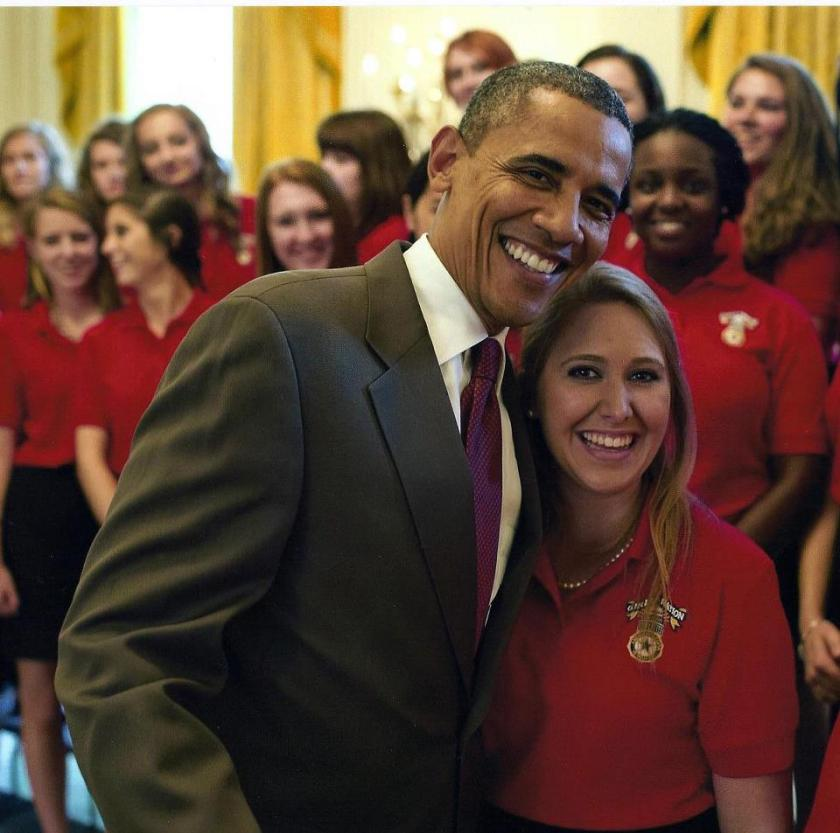 CHS senior Hanna Orselet with President Obama at the Girls Nation event in Washington, DC in July. (Official White House Photo by Pete Souza)