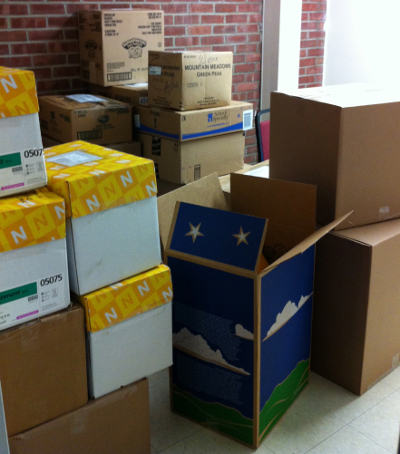 MBS's Project Giving Tree collected thirty boxes of gifts
