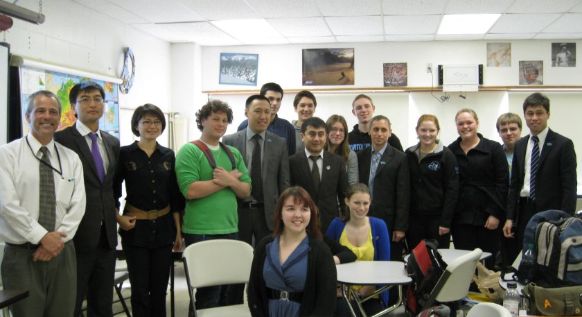 CHS's AP European History class welcomed visitors from Kazakhstan.