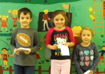 Gift certificate winners from Union Memorial School