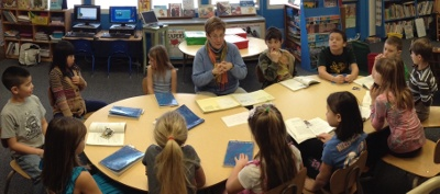 UMS students engage in a book discussion