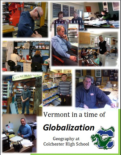 Cover art from the book collaboratively authored by students in Ms. Wood's geography class
