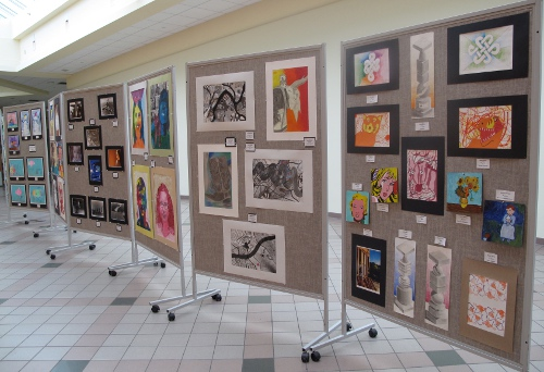 CSD students' collected works on display at the Champlain Valley Regional Art Show