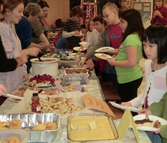 Malletts Bay School students enjoy a recent Native American-themed potlatch celebration as a component of their study