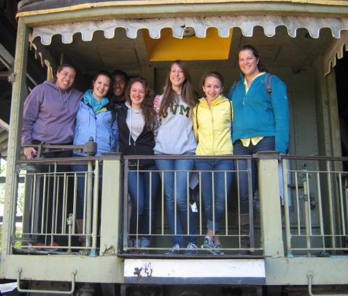 Roz Calderon Paige Shepard, Jenn McNall, Hannah Echo, Anna Senft-Miller, and Haley Mock at Shelburne Museum