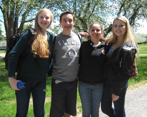 Steven Sonntag, Zoe Ladensack, Morgan Bayko, and Sophie Joyce