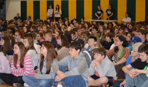 CMS students at the assembly