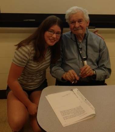 CHS student Mariah Noth and Mr. Barenbaum
