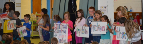 First graders explain the meaning of the Pledge of Allegiance