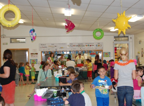 PPS celebrated its walkathon success with a beach-themed celebration