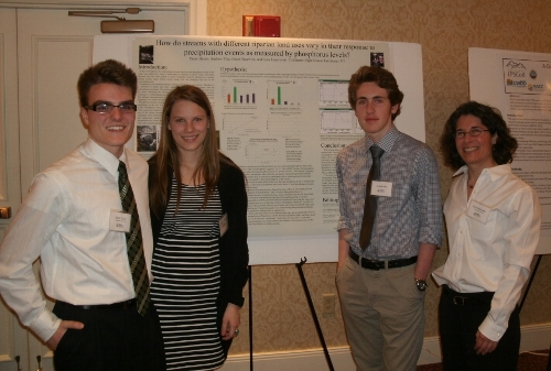 CHS students and teacher Kara Lenorovitz at the 2013 symposium