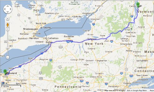 The 589 miles walked by the PPS Pandas is also approximately the distance between Colchester, VT, and OH