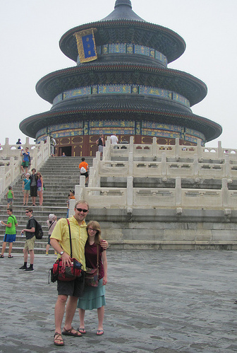 Mr. Scheuch and Julia Bessy at the Temple of Heaven