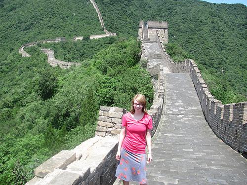 Julia at the Great Wall of China