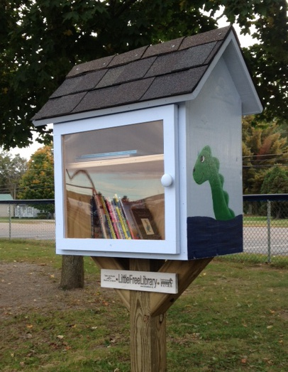The Little Free Library on the Union Memorial School playground is open to the entire community