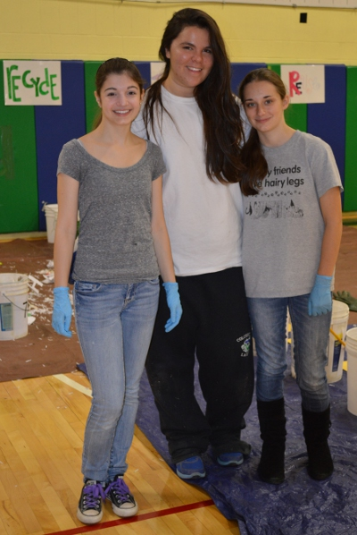 CHS students Allison Pilcher, Casey LaBonte, and Sophia Simkins led the charge in the project