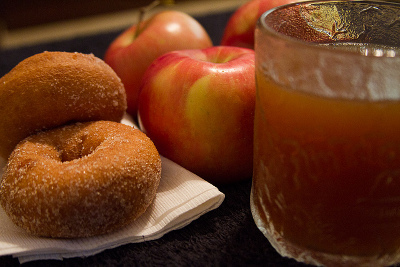 Cider and doughnuts