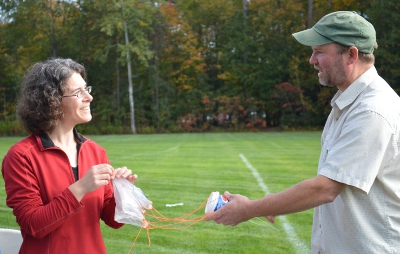 CHS science teacher Kara and UVM Mike