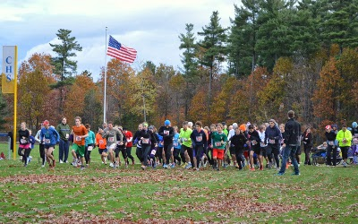 Participants in the 5K event to benefit the Colchester Community Food Shelf on October 27