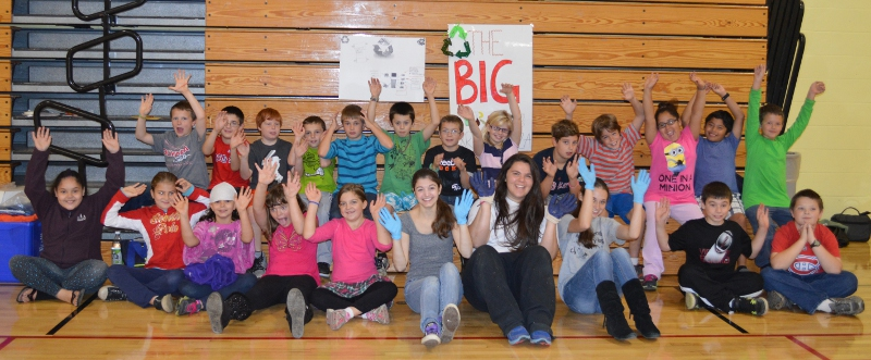 CHS student leaders and MBS students team up on a recycling project