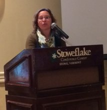 Melanie Laquerre at the award ceremony in Stowe