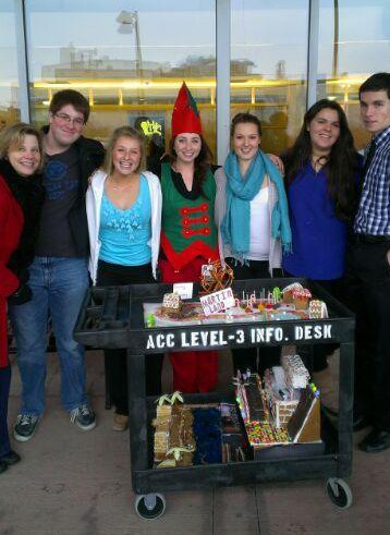 Members of the CHS community deliver gingerbread houses to the Vermont Children's Hospital