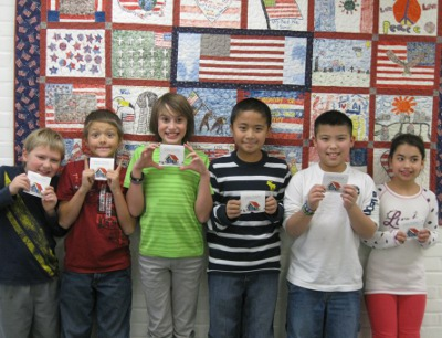 MBS Ospreys display their Barnes & Noble gift cards