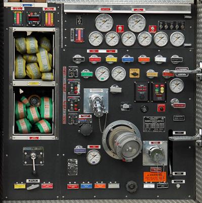 Firetruck instrument panel