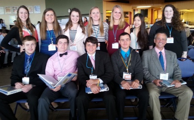 CHS's 2014 delegates to the model un event with teacher Jim Price