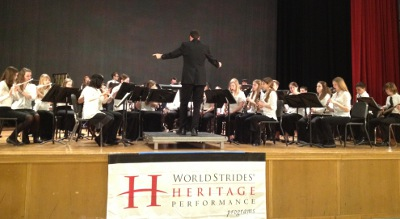 The CHS Concert Band performing at the World Strides Music Festival held in New York City on April 26, earning a silver medal for their performance